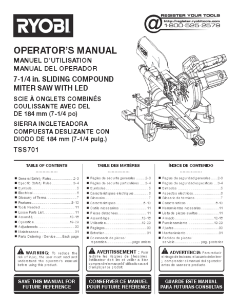 TSS701_276_trilingual.pdf -  Manual