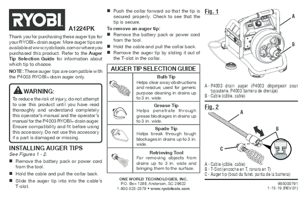 A1224PK_auger_tips_791_trilingual_01.pdf -  Manual