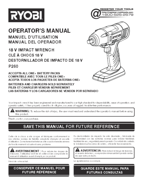 P260_672_trilingual.pdf -  Manual