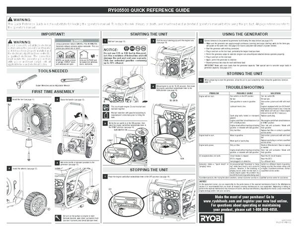 RY905500_090930295_666_QRG_ing_02.pdf - Manual