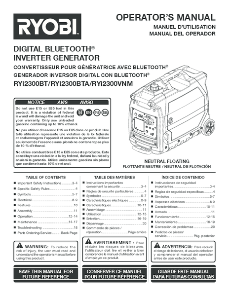RYi2300BT_BTA_090930309_330_506_trilingual_05.pdf -  Manual